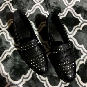Circus by Dam Edelman black stud loafers